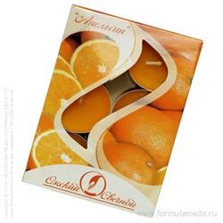 Апельсин ароматическая свеча в гильзе 6 шт ОМСКИЙ СВЕЧНОЙ в официальном интернет-магазине ФОРМУЛА МЁДА 401-005-14 01