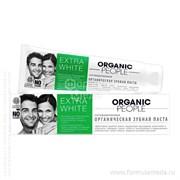 Extra White органическая зубная паста 100 ORGANIC PEOPLE продукция в официальном интернет-магазине ФОРМУЛА МЁДА 304-014-21 01